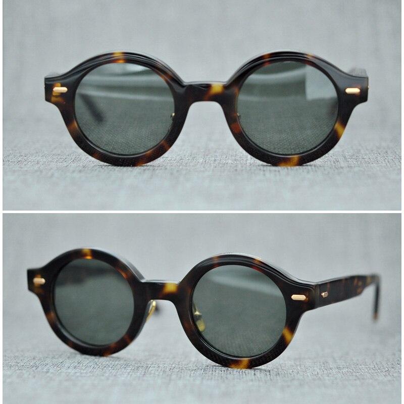 Polarized Sunglasses Men Women Retro Brand Designer Vintage Black Driving Sunglasses Round Sun Glasses for Male Goggle UV400