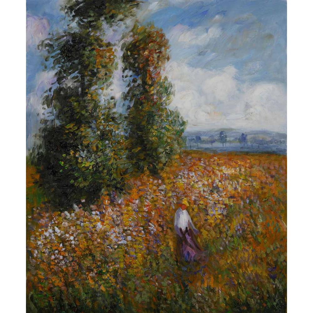 High quality Claude Monet paintings Field with Poplars oil on canvas hand-painted Home decor
