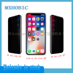 Image 2 - 5pcs Full Cover Privacy Tempered Glass For iPhone X XS Max XR 6 6S 7 8 Plus Anti Spy Screen Protector Anti spy Protective Film