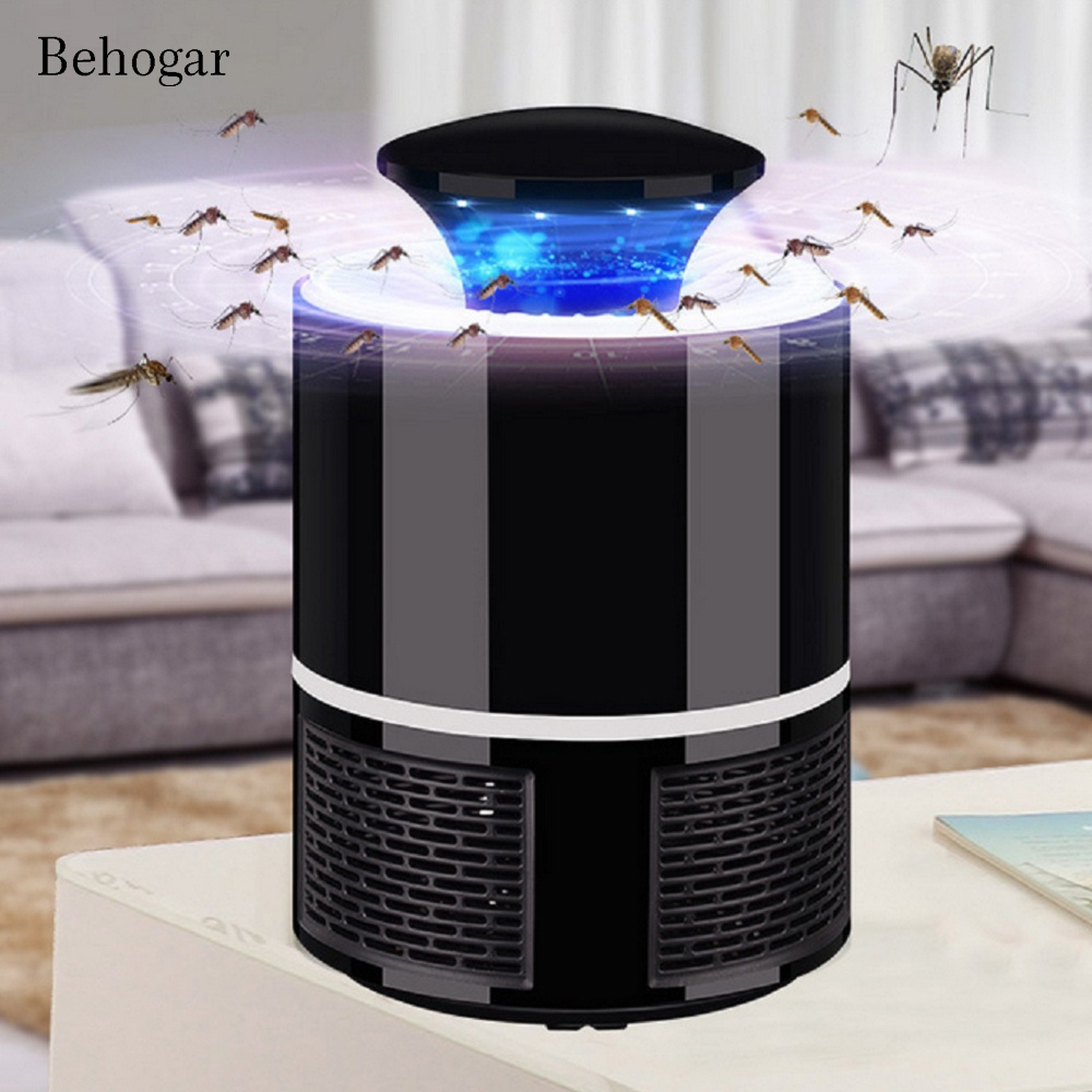 Behogar Photocatalyst Electric USB Mosquito Killer lamp Bug Insect Light Anti Fly Moustique Killing Trap Repellent Fly Repeller