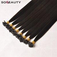 Virgin Human Hair Nail U Tip Hair Extensions Silky Straight Pre Bonded Hair Keratin Capsules customized colors 50s/pcs