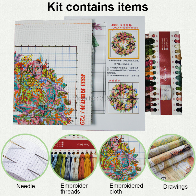 Holiday is coming diy kit chinese cross stitch patterns on canvas embroidery needlework sets counting patterns DMC14ct landscape in Package from Home Garden