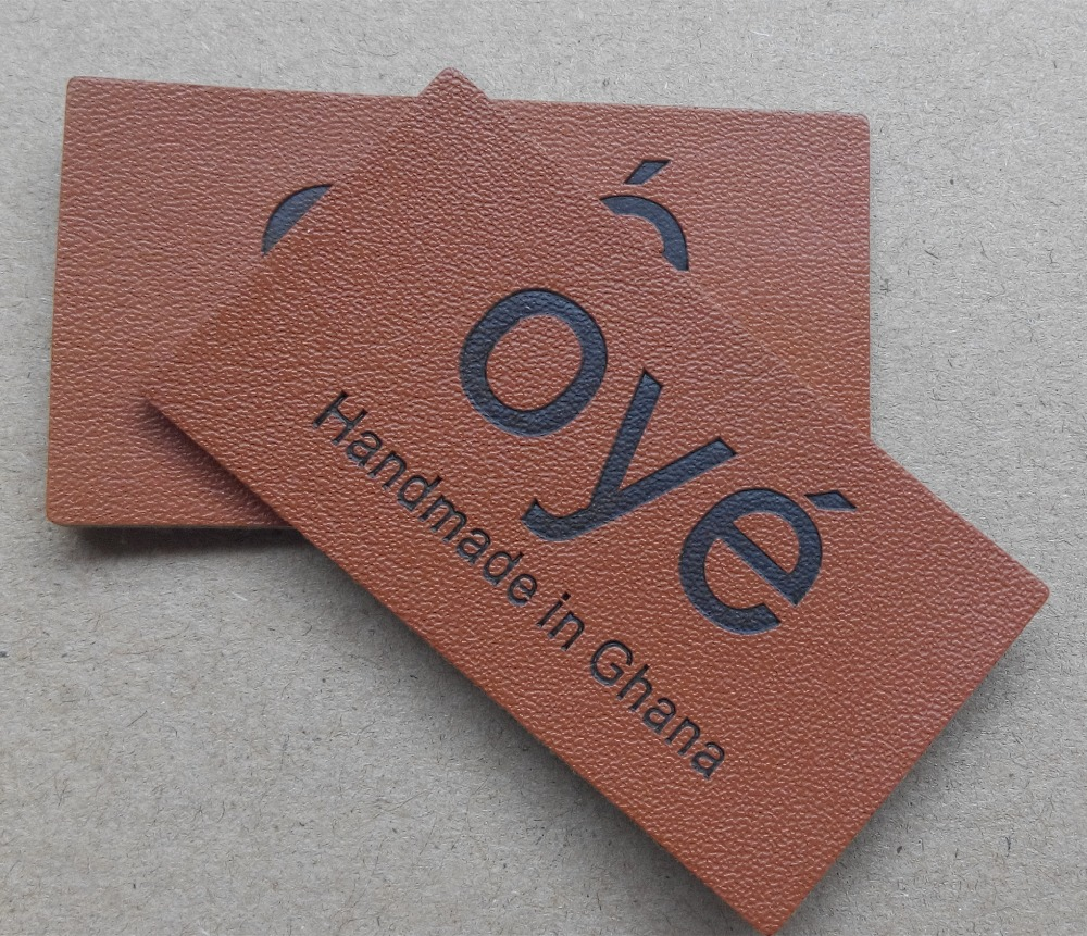 (1000 pcs/pack) étiquettes en cuir véritable en creux personnalisées, badges avec logo de marque, étiquettes en cuir véritable pour sacs et chaussures