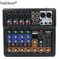 Vadiboer F8 Professionelle 6 Kanäle Mixer Konsole Mit Bluetooth Wirkung 48 v Phantom Power Versorgung Mini Bühne Audio Konsole Equipm