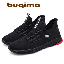 Buqima 2019 Breathable Mens Sports Shoes High Quality Comfortable Non-slip Soft Mesh Running Leisure