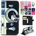 Caque para apple iphone 6 s 4.7 polegada projeto dos desenhos animados holster magnético telefone leather flip back cover case para iphone6 6 s