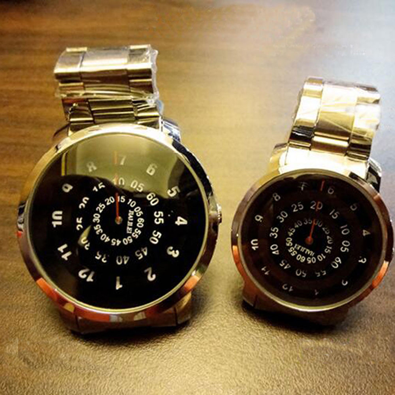Luxury Men Women Lovers Quartz Watches Stainless Steel Watchband Sport Compass Analog Couple Wristwatches
