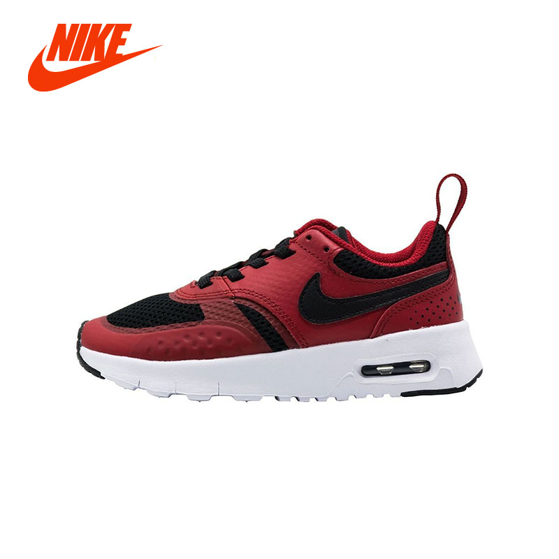 Original Authentic NIKE AIR VISION MAX Cushion Kids Baby Unisex Boy Girls Running Sport Sneakers Child Lace Up Casual Shoe