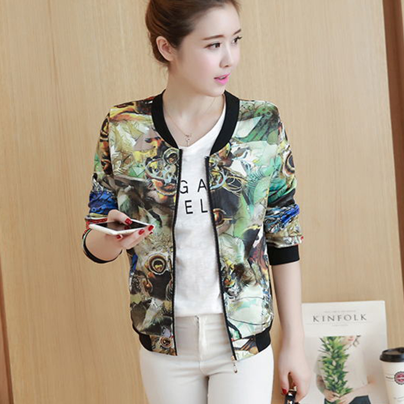 spring autumn newest fashion loose wild female casual short coat jackets women coat jacket outerwear thin baseball uniform S-3XL