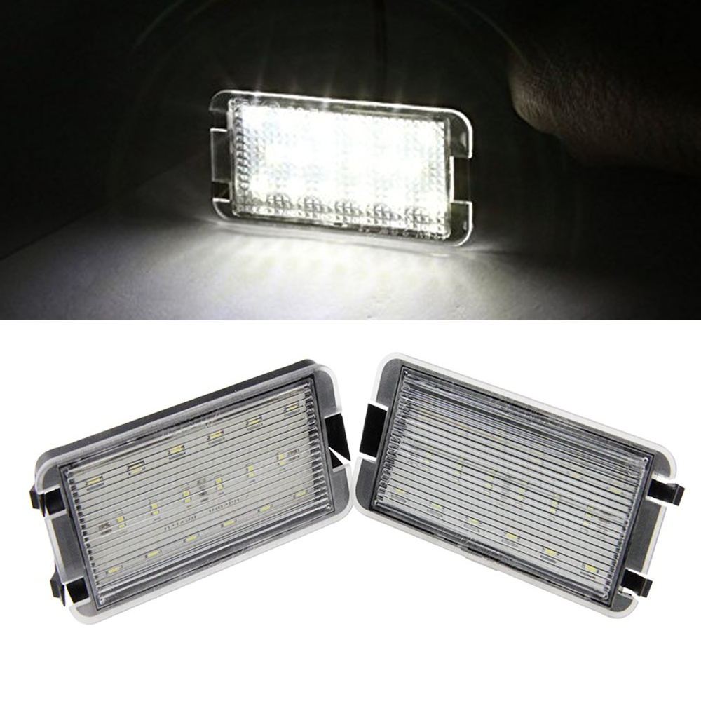 2x LED Tail Number License Plate Lights Lamps Error Free For Seat Ibiza 6L ab for Seat Altea CORDOBA/LEON/Toledo III 2004-2009 комплект адаптеров seat cordoba