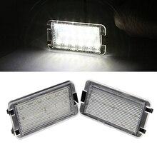 2x светодио дный светодиодные задние номерные знаки огни лампы Ошибка бесплатно для сиденья Ibiza 6L ab для сиденья Altea CORDOBA/LEON светодио дный To LED o III 2004-2009