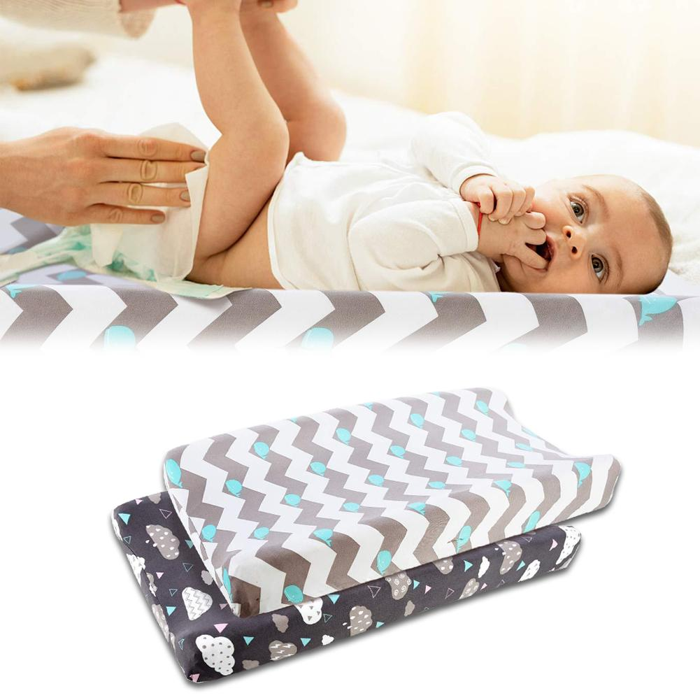 Baby Nappy Changing Pad Soft Changing Jersey Fabric Changing Table Baby Waterproof Mattress Bed Sheet Infant Change Mat 2pcs