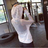 Fitness Breathable Sportswear Women Yoga Top TShirt Sport Suit Quick Dry Running Gym Shirt Women Hooded