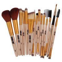 15Pcs Set Professional Makeup Brush Rose Gold Makeup Brushes Set Kit Foundation Comestic Brush Tool Drop