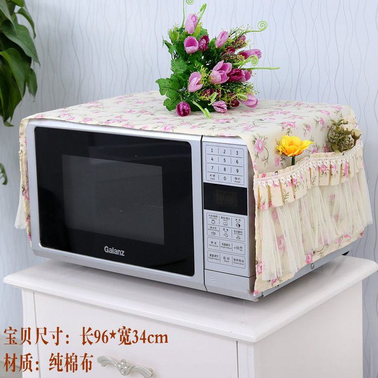1Pcs Thickening Microwave oven cloth art lace outside cover grease proofing dust cover The oven cover Electric furnace cover