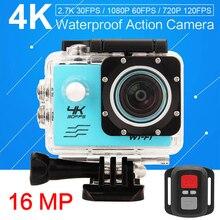4 К 30PFS 16MP Камера sj 4 К 4000 WIFI Стиль 2 Дюймов жк-экран 1080 P 60pfs водонепроницаемый go cam pro hero 4 подводные действие камера