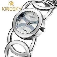 2015 relogio женщина для diamond kingsky часы женщины платье кварц женщины наручные часы розовое золото из нержавеющей сетки группа relojes
