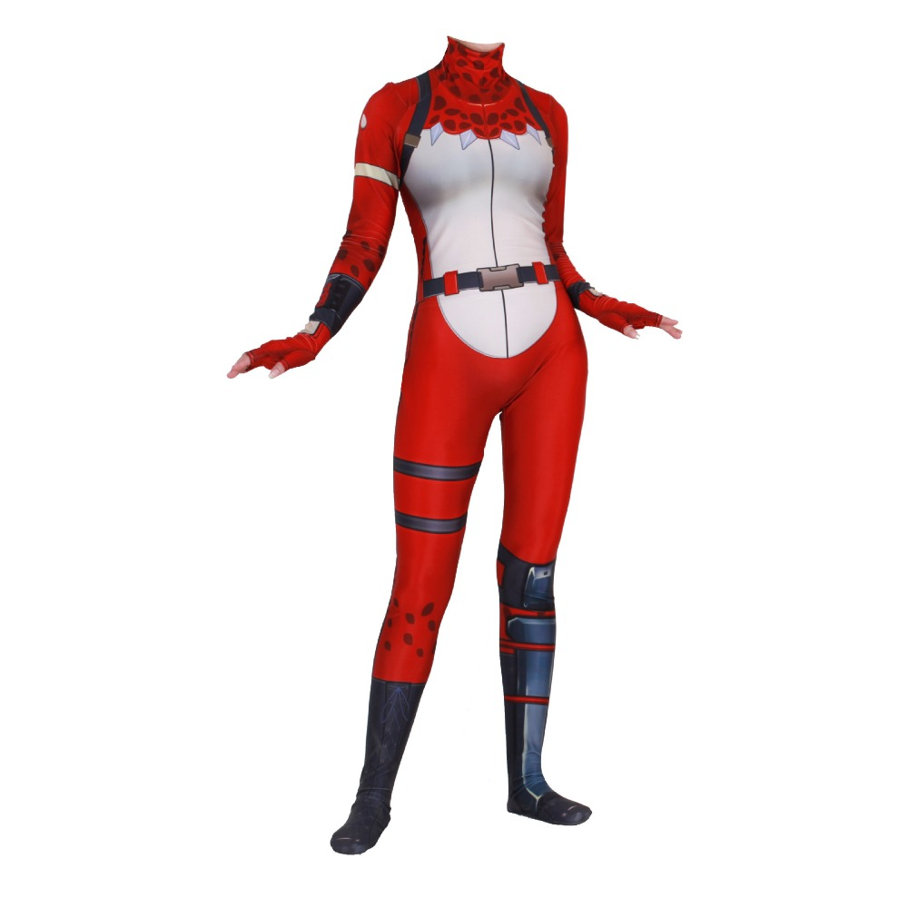 Free shipping adult Kids halloween Game Cosplay Costume Fortress Night Zentai Bodysuit Jumpsuits suit for women JQ-1357