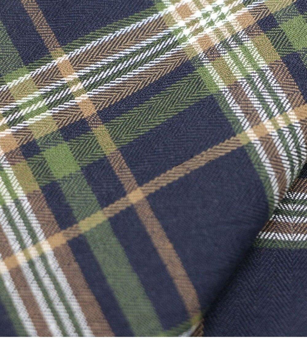Mylb  Plaid Fabric Mix Cotton Classic Scottish Plaid Collection Suit Pleated Skirt Grid Fabric Textile