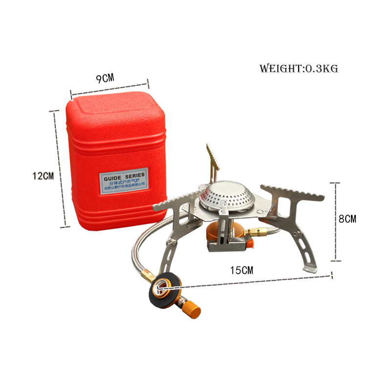 Bag 3000W Portable Outdoor Camping Hiking Gas Stove Folding Cooking Burner