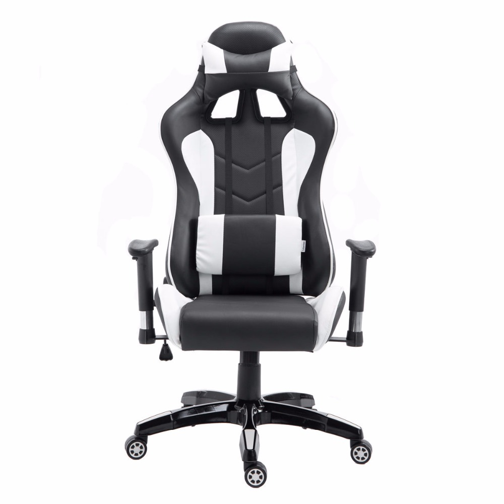 goplus high back executive racing reclining gaming chair swivel pu