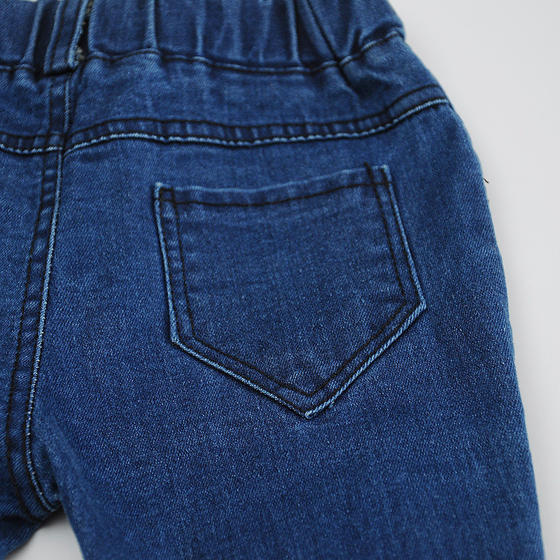 Baby Boy Girl Denim Jeans Pants Bebe Pantalones Harem Pants Kids Stretch Solid Trousers Children Clothing