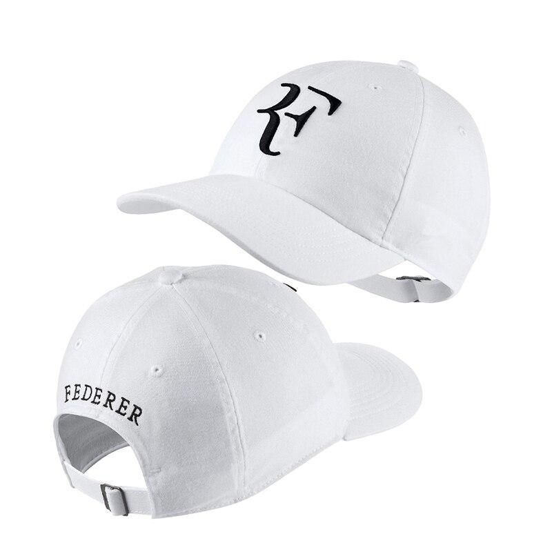 HTB1uvpZlYZnBKNjSZFhq6A.oXXai - 2018 Tennis Star Roger Federer Dad Hat Sport baseball cap 100% cotton 3D embroidery Unisex Snapback caps Tennis hat F Hats