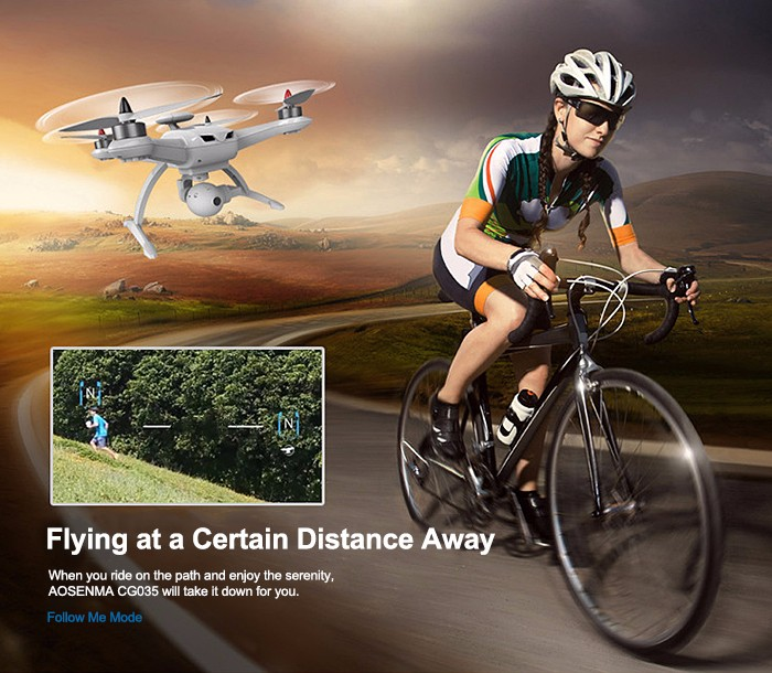 AOSENMA CG035 RC Drone Brushless With 1080P FPV HD Camera Helicopter 6-AXIS Gyro Headless Mode Quadcopter 2.4GHz Drone With GPS