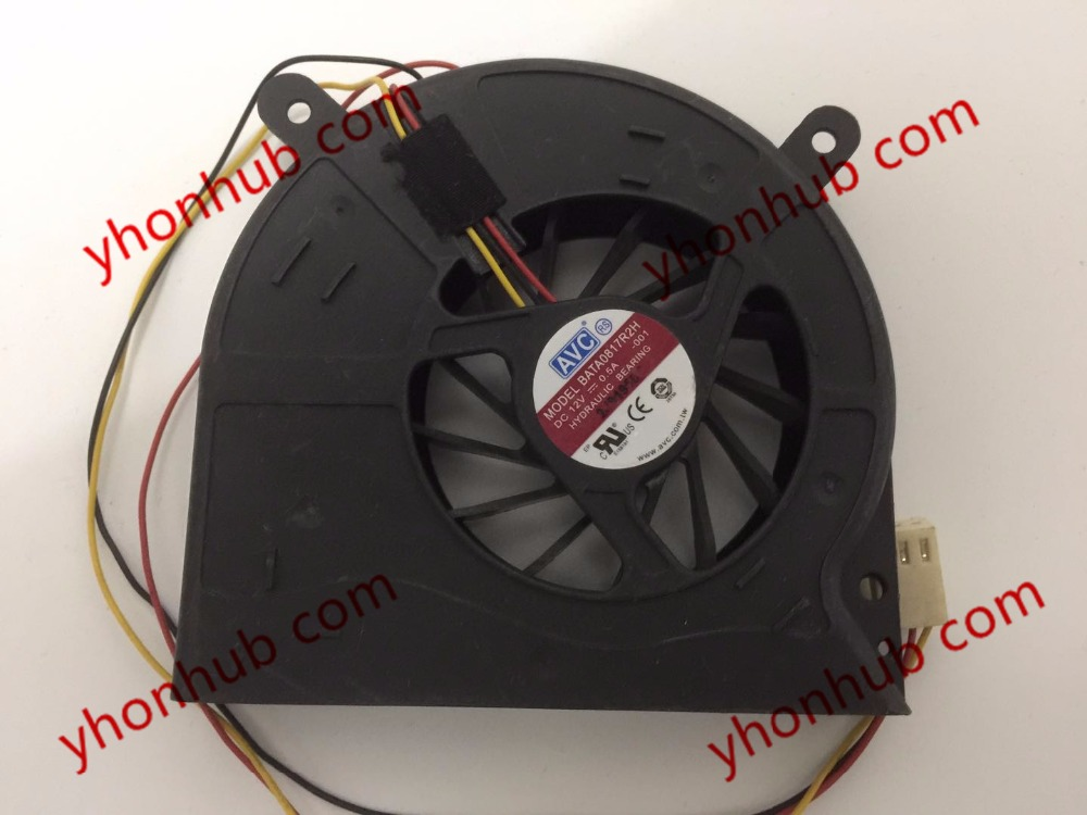 AVC BATA0817R2H, -001 DC 12V 0.5A 3-Wire 88x83x17mm Server Blower fan free shipping for toshiba sf72h12 01a dc 12v 250ma 3 wire 3 pin connector 65mm6 server cooling blower fan