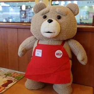 Image 2 - 45cm 9 סגנונות סרט היא טדי דוב בפלאש צעצועי ב חליפת ילד טד רך חיות פרווה בובות מתנת הווה טוב Qulity כלה שמלה