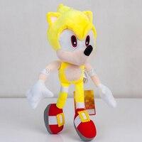 New Fly Yellow Super Sonic Plush Soft Doll Stuffed Animal Children Toys Kids 13 Inch Gift