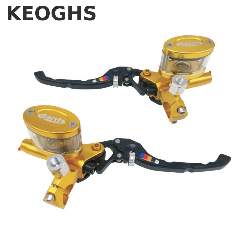 Keoghs Motorcycle Brake Master Cylinder Cnc Aluminum 12.7mm Piston Size Adjustable For Yamaha Honda Kawasaki Scooter Motorbike keoghs motorcycle floating brake disc 240mm diameter 5 holes for yamaha scooter