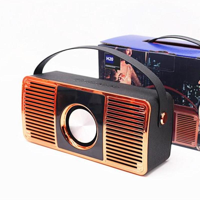 Haut-parleur Bluetooth Portable sans fil stéréo son Boombox avec Microphone Support TF carte jouer musique FM Radio haut-parleurs pour téléphone