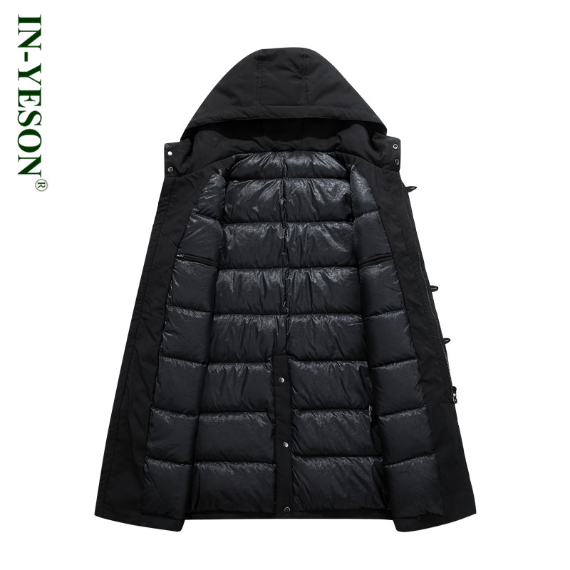 2c75877d70b New Russia Winter Jackets Mens Brand Solid Thick Warm Long Down Jacket Men  Army Thermal 90% White Duck Down Overcoat 40 degree-in Down Jackets from  Men s ...