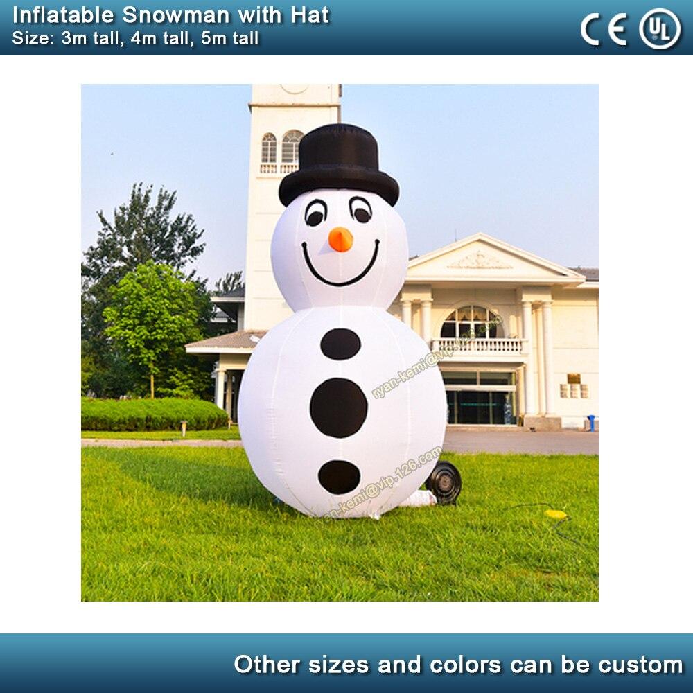 3 m 4 m 5 m giant opblaasbare sneeuwman met hoed Kerst Tuin decoratie opblaasbare outdoor blow up figuur met blower