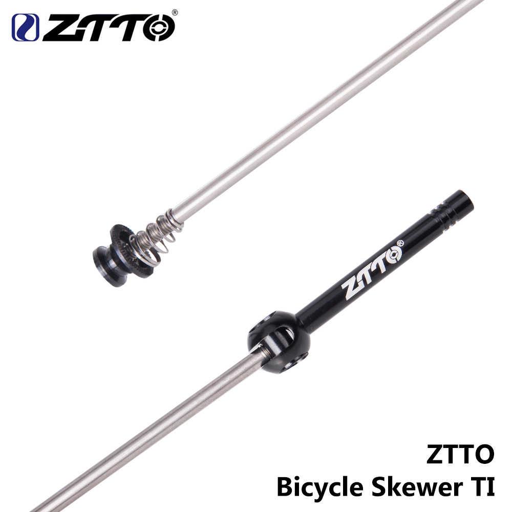 ZTTO MTB الطريق الدراجة QR Ti أسياخ خفيفة 9 مللي متر 5 مللي متر سريعة الإصدار 100 135 محور موثوق المحور 1 زوج دراجة التبعي
