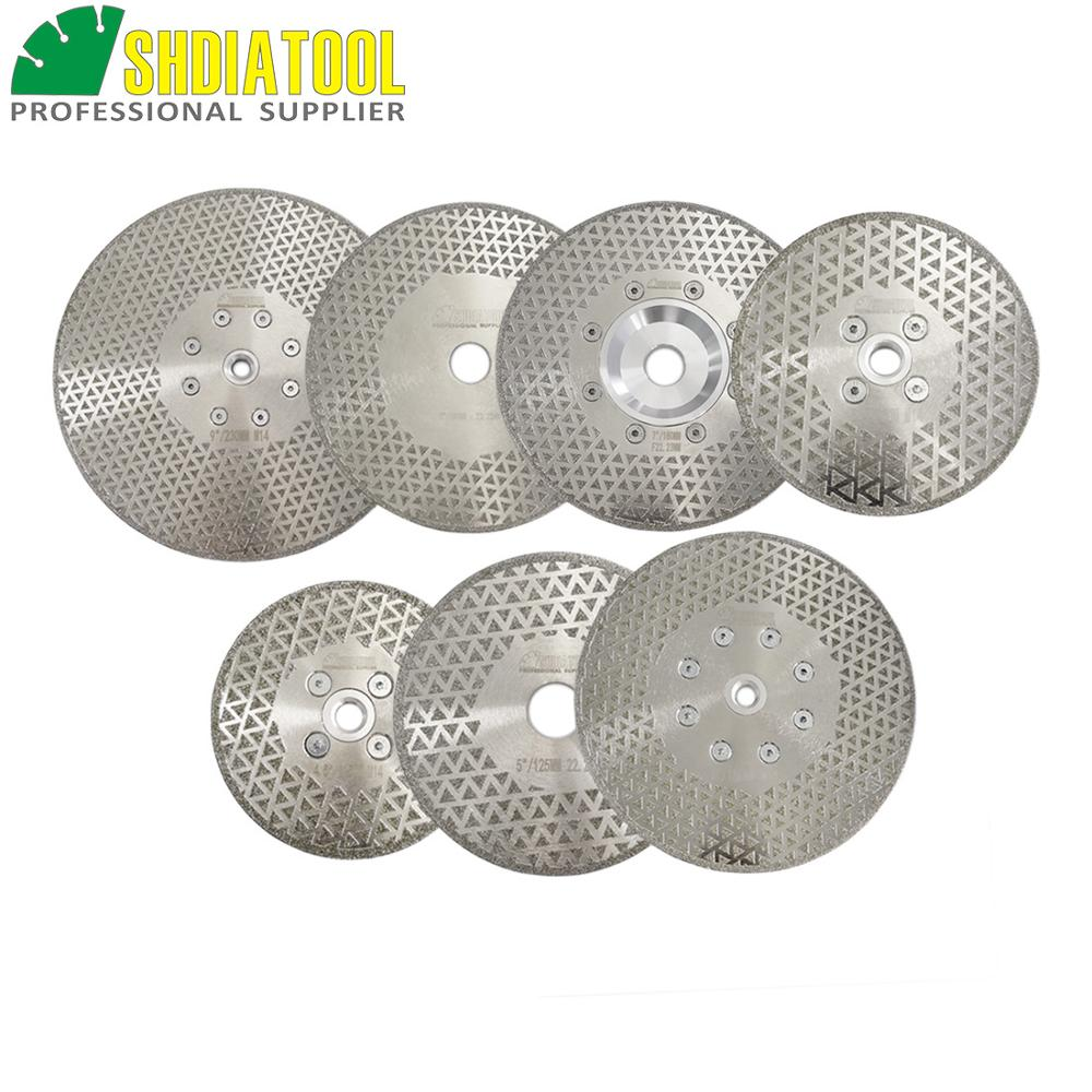 SHDIATOOL 1pc Electroplated Diamond Cutting & Grinding Blade Both Side Coated Diamond Disc Marble Cutting Disc Granite Sawblade