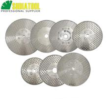DIATOOL 1pc Electroplated Diamond Cutting & Grinding Blade Both Side Coated Diamond Disc Marble 1pc 7 180mm electroplated diamond cutting and grinding discs for granite