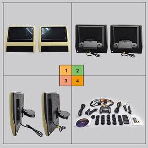 Image 5 - XST 2PCS 9 นิ้ว Car Headrest Monitor MP5 เครื่องเล่น DVD USB/SD/หน้าจอ LCD ด้านหลังเครื่องส่งสัญญาณ IR/FM รีโมทคอนโทรล
