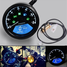 WUPP Motorcycle Lcd Backlight Digital 3 Cylinder Tachometer, Tachometer Can Be Visibled At Night