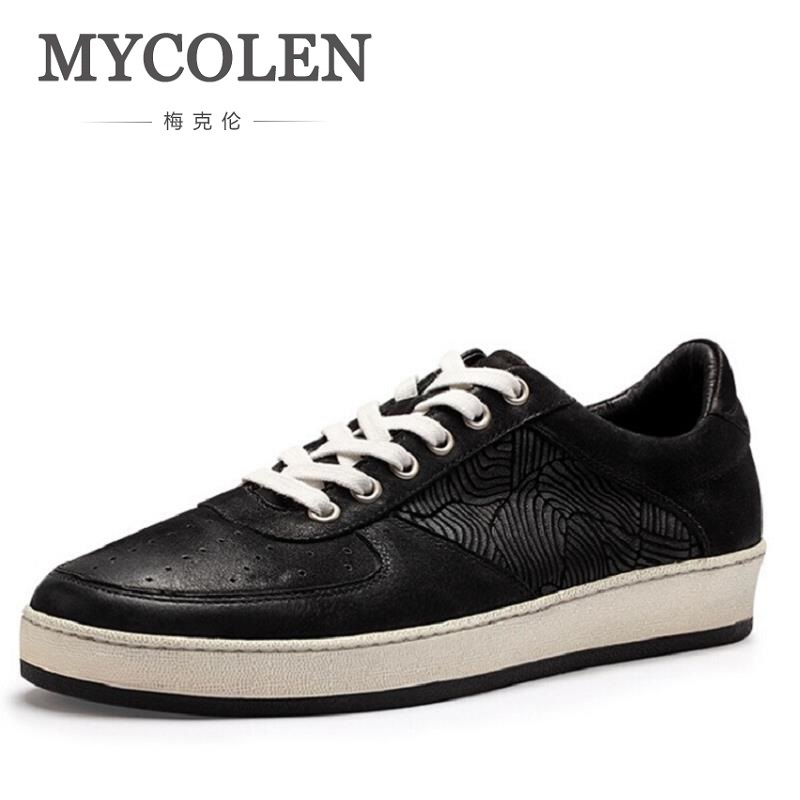 MYCOLEN Brand Men Casual Shoes Fashion Male Shoes Adult Mens Footwear Lace up Patchwork Pattern autumn Shoes Chaussures Homme men non leather casual shoes spring autumn summer mens footwear men lace up camouflage shoe zapatillas hombre chaussures homme