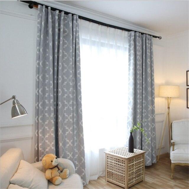 Europäischen Grau Rosa Blackout Vorhang Wohnzimmer Dekoration Schlafzimmer  Balkon Einfarbig Geometrische Blind Küche Vorhänge Kurze