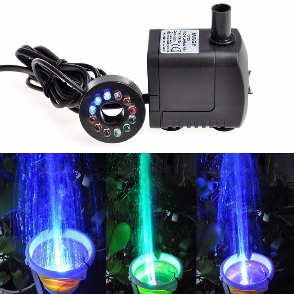 Led light submersible water pump 8w aquariums koi fish for Koi pond underwater lighting