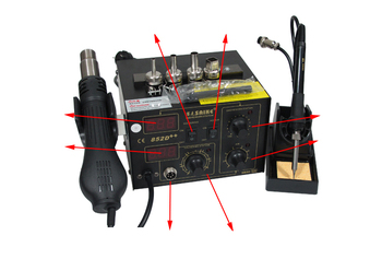 цена на soldering iron saike 852D++ ,the upgrade version of saike 852D+,Hot Air Rework Station Hot Air Gun , 220V or 110V