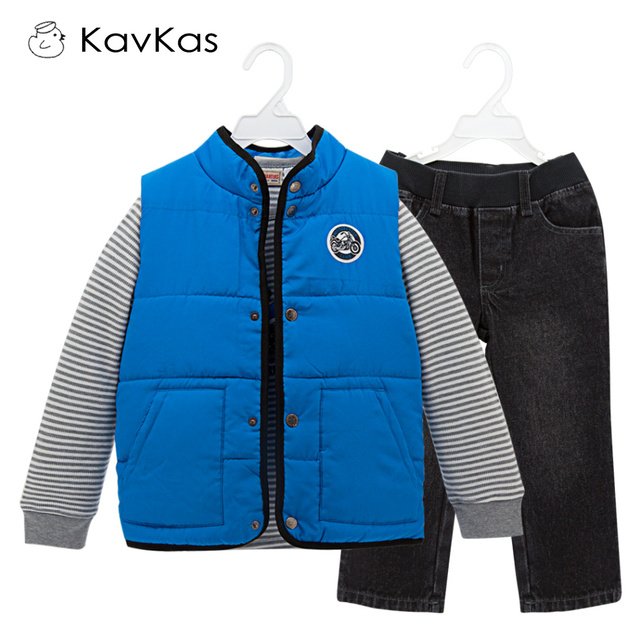 542d5a5d8 Kavkas Children Boy Clothing Set 3pcs Cotton Padding Autumn Clothes ...