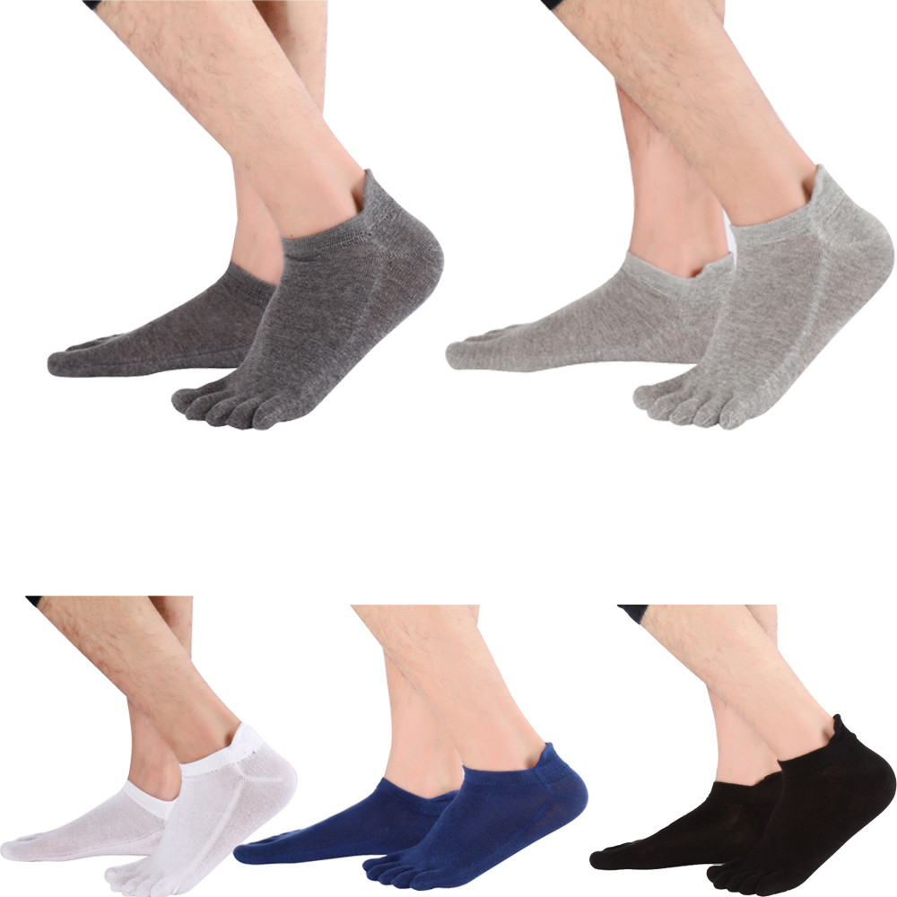 High Quality Fashion Men Non Slip Massage Toe Socks With Socks Heel Five Finger Socks For Male Drop Shipping Gifts