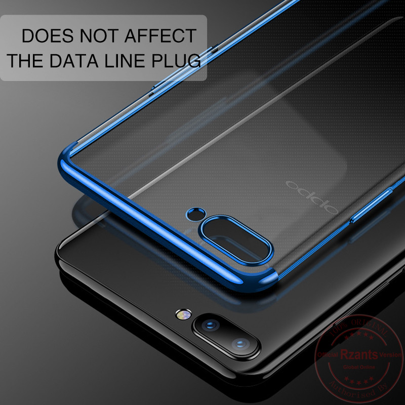 Rzants Phone Case For OPPO A3s Anti Knock 3 in 1 Electroplating TPU