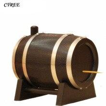 Dispenser-Holder Container Toothpick-Box Automatic-Press Creative Plastic CTREE Wine-Barrel