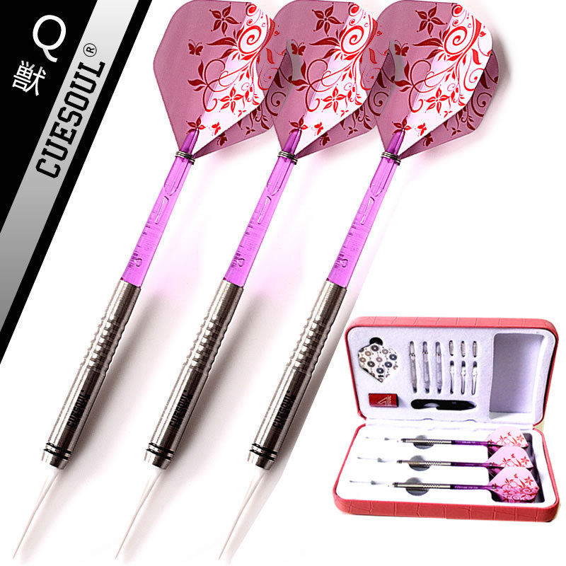 New CUESOUL 3PCS/set 90% Tungsten Dart Body18g 14.5cm Darts Professional Soft Darts Electronic Darts Pink Flight 2018 europe the united states new spring autumn girls plaid dress long sleeved simple lace dress 2 7 years old baby girl clothes