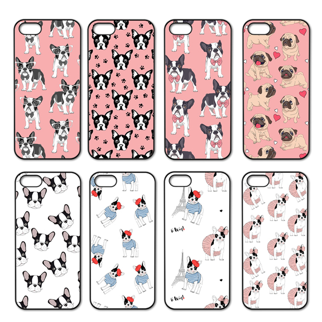 Cute Puppy French Bulldog Cover Case For Iphone 4 4s 5 5s 5c Se 6 6s